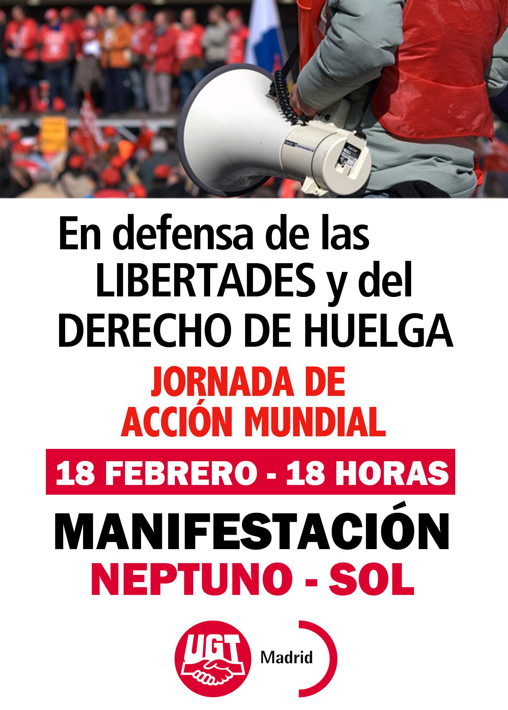Jornada Acción 18 de febrero UGT-Madrid