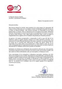 carta a la  alcaldesa 09/09/2015
