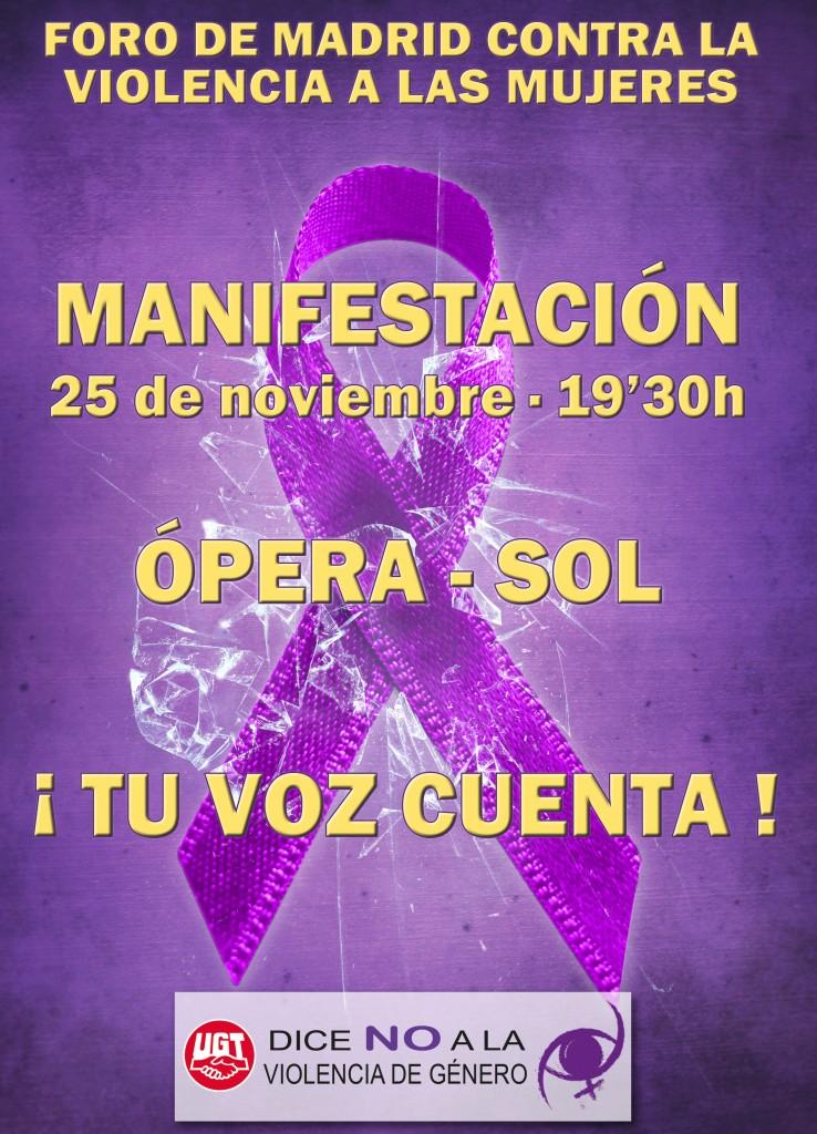 MAnifestación 19:30 de Opera a Sol
