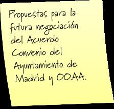 Propuestas nuevo  Acuerdo Convenio