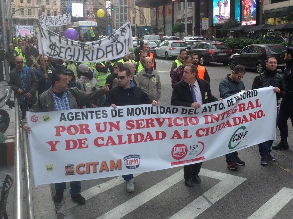 Manifestación 11/12/2015 en Gran Vía