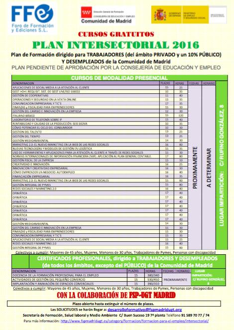 plan intersectorial 2016