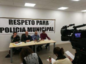 """Rueda de prensa """"Respeto para la Policia Municipal"""""""